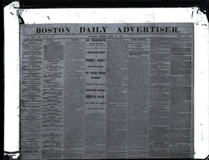 Lincoln headlines: Boston Daily Advertiser, April 15, 1865