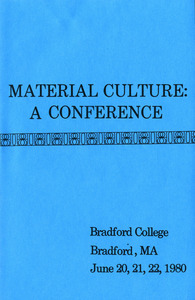 Material culture: a conference