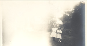 Children standing in a field