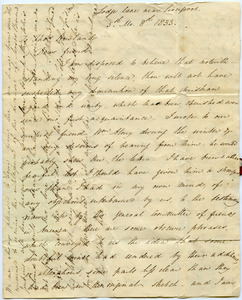 Letter from Anna Braithwaite to Thomas Howland