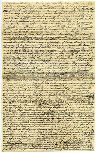 Draft letter from Thomas Howland to William Forster