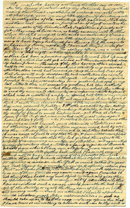 Draft letter from Thomas Howland to John Wilbur