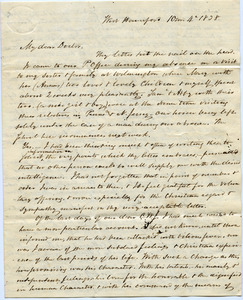 Letter from John Griscom to Samuel Boyd Tobey