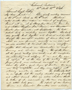 Letter from Elijah Coffin to Samuel Boyd Tobey
