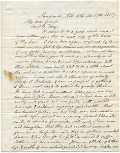 Letter from Benjamin Fry to Samuel Boyd Tobey
