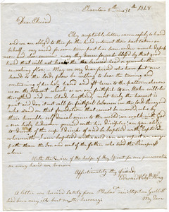 Letter from Edward and Elizabeth Wing to Samuel Boyd Tobey