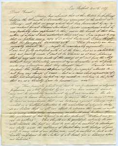 Letter from Abraham Shearman to Thomas Howland