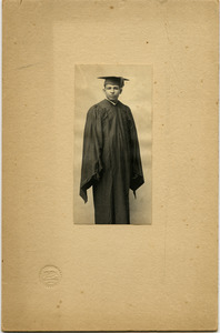 William Lane Hood: studio portrait in academic gown