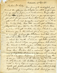Letter from Benjamin Smith Lyman, Hakodate to Mr. Lesley