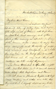 Letter from benjamin Smith Lyman to Aunt Susan