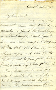 Letter from Benjamin Smith Lyman to Aunt