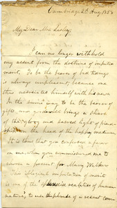 Letter from Benjamin Smith Lyman to Mrs. Lesley