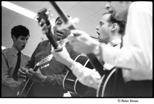 Dr. Doubilet and the Park Street Undertakers: (l-r) David Doubilet, unidentified mandolinist, George Nelson, Neil Rossi