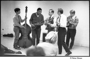 Dr. Doubilet and the Park Street Undertakers: (l-r) David Doubilet, unidentified mandolinist, George Nelson, Neil Rossi, unidentified guitarist