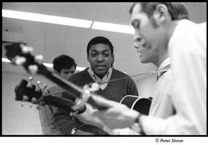 Dr. Doubilet and the Park Street Undertakers: (back-to-front) David Doubilet, unidentified mandolinist, George Nelson, Neil Rossi