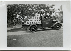 Duxbury Cranberry Company truck and float for Fourth of July parade