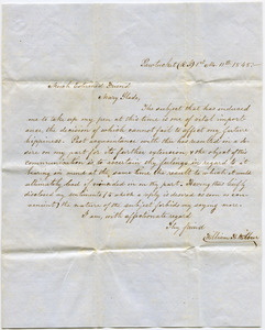 Letter from William H. Wilbur to Mary Slade