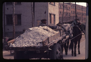 General Petrochemical Works -- cart with fertilizer, horses, driver