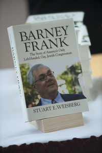 Close-up of the cover of Barney Frank's autobiography