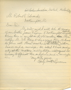 Letter from Benjamin Smith Lyman to Robert E. Edwards
