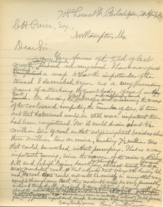 Letter from Benjamin Smith Lyman to Chauncey H. Pierce