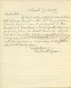 Letter from Benjamin Smith Lyman to Charles S. Heller