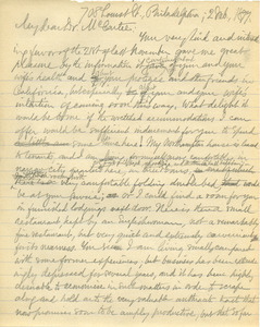 Letter from Benjamin Smith Lyman to Divie Bethune McCartee