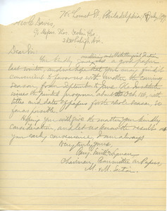 Letter from Benjamin Smith Lyman to George C. Davis