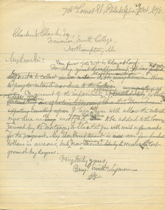 Letter from Benjamin Smith Lyman to Charles N. Clark