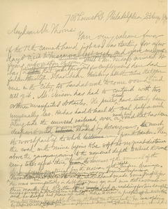 Letter from Benjamin Smith Lyman to Bruce Thorne