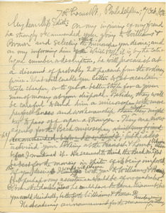 Letter from Benjamin Smith Lyman to Edith Clark