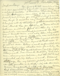 Letter from Benjamin Smith Lyman to Mary Lyman