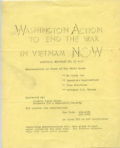 Washington Action to End the War in Vietnam Now