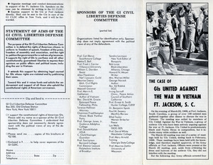 The case of GIs united against the war in Vietnam, Ft. Jackson, S.C.