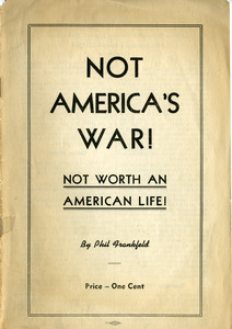Not America's war! Not worth an American life!