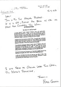 Fax from Mark Goddster to Laurie Roggenburk
