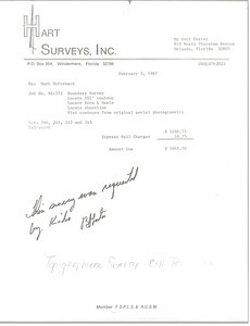 Hart Surveys, Inc. Invoice
