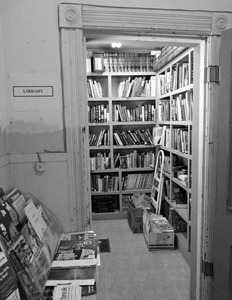 Savoy Hollow Public Library: view of the library stacks