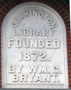 Bryant Free Library: commemorative plaque