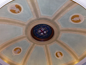 Griswold Memorial Library: rotunda ceiling
