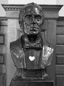 Forbes Library: bust of Charles Edward Forbes