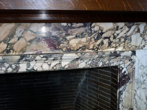 Field Memorial Library: marble surround to the fireplace