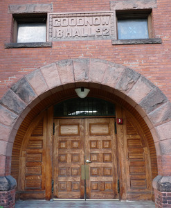 Tyler Memorial Library: front entrance