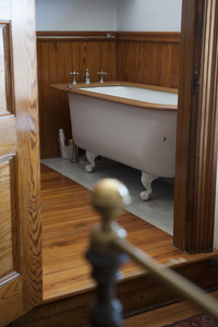 Bathroom and claw-foot tub at Naulakha, Rudyard Kipling's home from 1893-1896