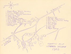 Campus map [University of Massachusetts Amherst] Summer session 1948