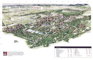 University of Massachusetts at Amherst campus map for guests