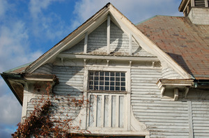 Left gable of the Queen Anne Horse Barn