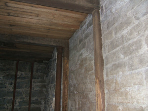 View of beams and supporting posts