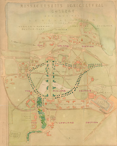 Massachusetts Agricultural College, Amherst, Mass., General Plan
