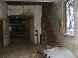 Interior view with stairway up